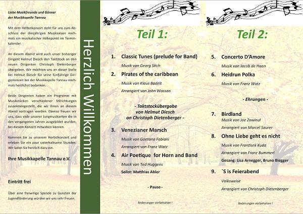 Programm Konzert